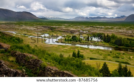 Thingvellir National Park - place where the first icelandic parliament (althing) seated.