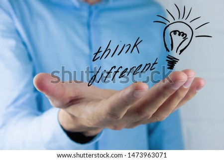 Think Differently. Being different move for success #1473963071