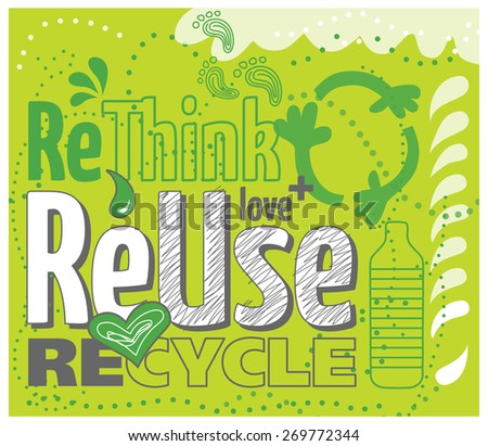 Think green concept: reuse, rethink, recycle Foto stock ©