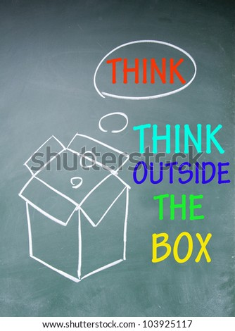 think outside the box symbol