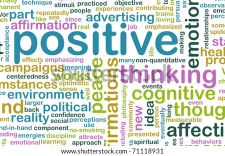 Think Positive as an Attitude Abstract Concept