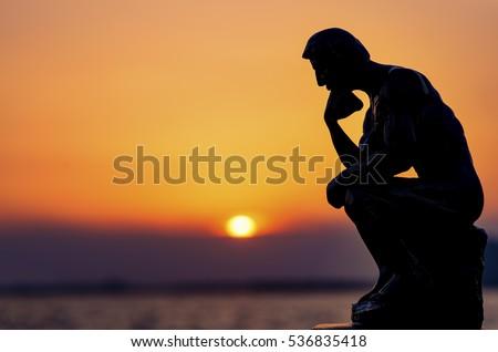 Thinking Man #536835418