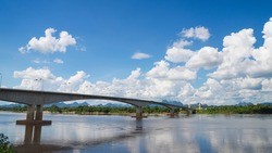 Third Thai–Lao Friendship Bridge, Bridge over the Mekong River Nakhon Phanom to Khammouane.The most beautiful bridge across the Mekong River. on Thailand.