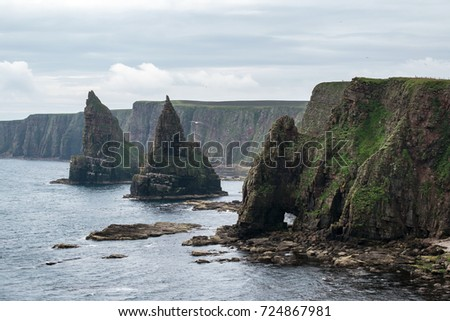 Thirle Door and the Stacks of Duncansby - part of the North Coast 500 route around the highlands of Scotland.