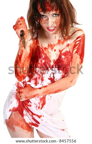 sexy girl covered in blood jpg 1200x900