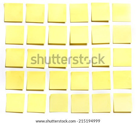 Thirty sticks note on white background, photo