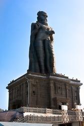 Thiruvalluvar statue on small island near Kanyakumar, Tamil Nadu, India