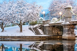 This beautiful photo was taken after a snow storm hit Boston. I headed out to shoot the park before people woke up.