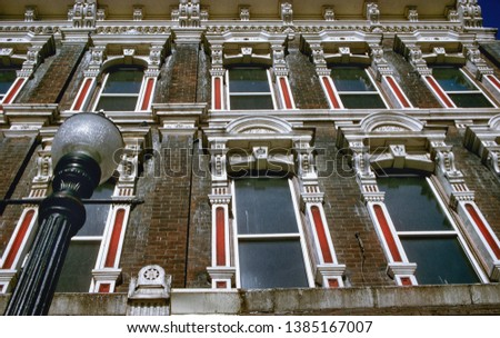 This detail found on this 1882 apartment building in Dundas Ontario has detailing all done in caste iron.