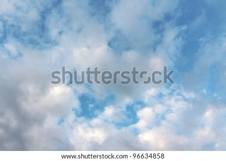 This dramatic cumulus cloud filled blue sky would make a perfect background or stationary.  It would also work well to replace a not so impressive sky in an otherwise very good photograph.