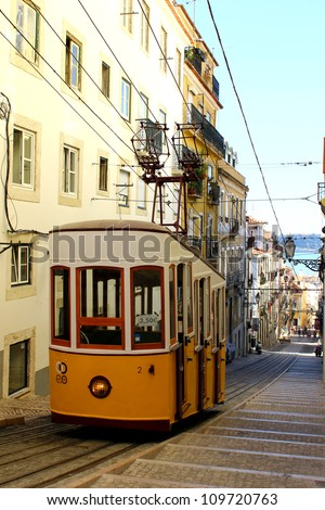 This funicular is one of the three that still work everyday in Lisbon.