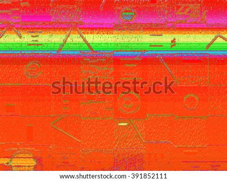 This highly textured geometric abstract background in variations of color has a strong tactile and optical appeal, as well as having a somewhat calligraphic and cryptic quality.