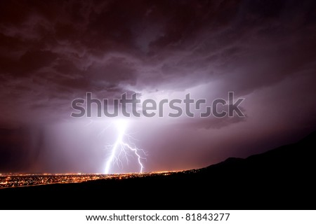 This huge bolt of lightening caused a generator explosion in El Paso, TX