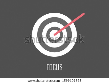 This illustration means to motivate people to focus on their goals represented by bullseye