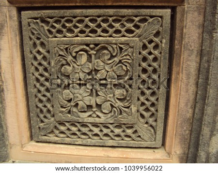 This image is captured in the temple of ahilyabai holkar fort in khargone district of maheshwar . This place is located in the bank of narmada river. #1039956022
