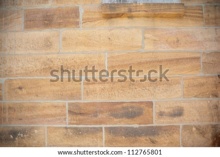 This image shows a sandstone wall on Cockatoo Island,  Sydney, Australia.