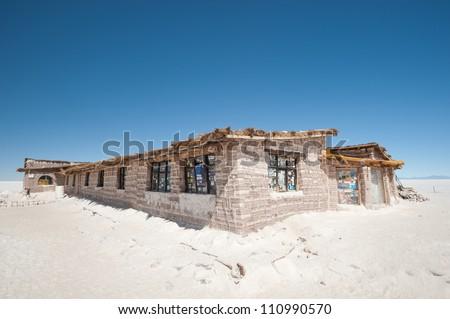 This image shows Bolivia's Salar De Uyuni Salt Hotel Museum