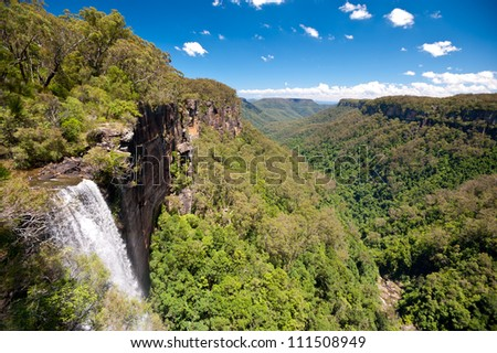 This image shows Fitzroy Falls, in New South Wales, Australia
