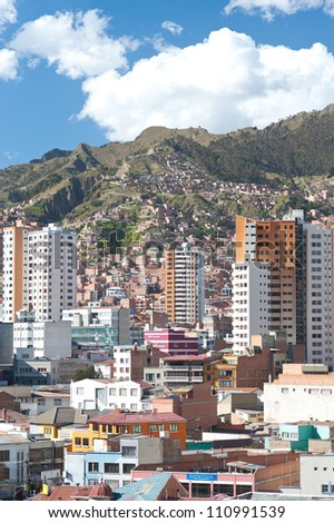 This image shows La Paz, Bolivia - stock photo