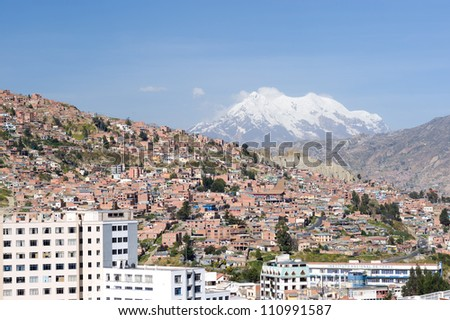 This image shows La Paz, Bolivia