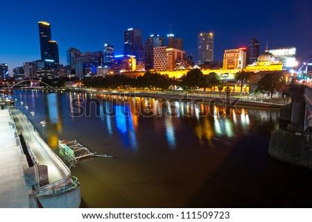 This image shows Melbourne, Australia