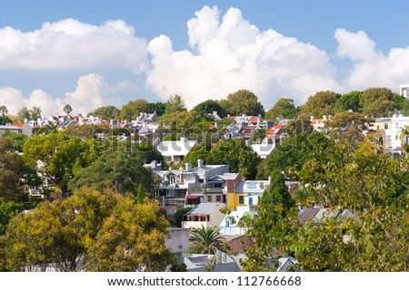This image shows Terrace Homes near Edgecliff in  Sydney, Australia