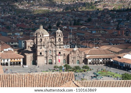This image shows the central square in Cusco, Peru