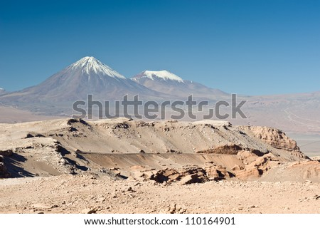 This image shows the Chilean Atacama Desert (Valle de la Luna)