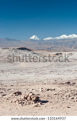 This image shows the Chilean Atacama Desert (Valle de la Luna)