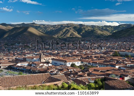 This image shows the city of Cusco, Peru