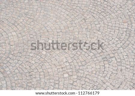 This image shows the detail of walkway stones around the Sydney Opera House