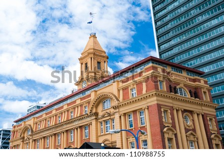 This image shows the Ferry Building - Auckland, New Zealand