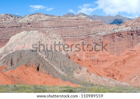 This image shows the landscape near Cafayate, Northern Argentina