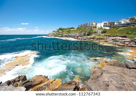 This image shows the scenery on the Bondi Beach to Bronte Walk, Sydney, Australia