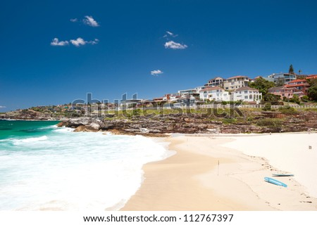 This image shows the scenery on the Bondi to Bronte Walk in Sydney, Australia