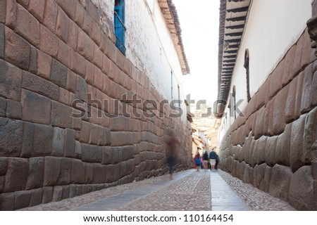 This image shows the streets of Cusco, Peru