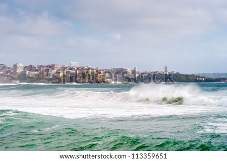 This image shows the suburb of Manly, near Sydney, Australia