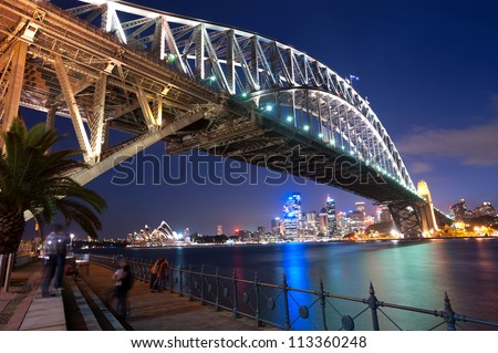 This image shows the Sydney Skyline as seen from Milsons Point Australia