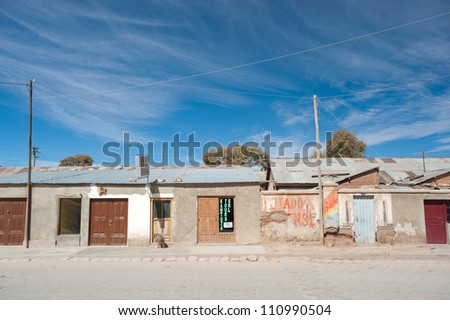 This image shows the town of Uyuni, Bolivia