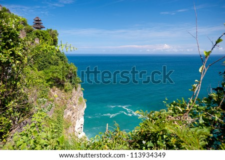 This image shows the Uluwatu Temple in Bali, Indonesia