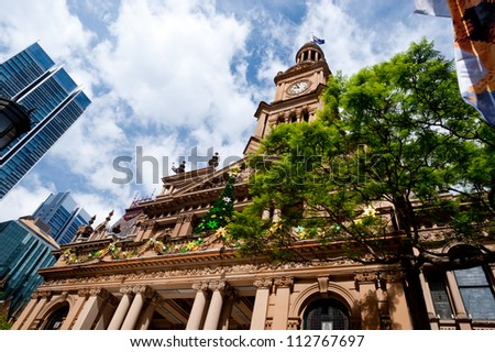 This image shows Town Hall in Sydney, Australia