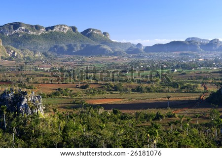 This image shows Vinales, in Cuba
