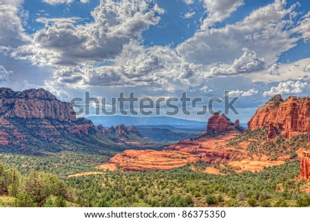 This image was taken on Schnebly Hill Road in Sedona, AZ in late afternoon.
