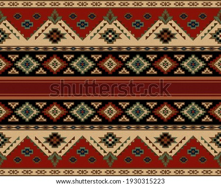 this is a beautiful rug border pattren.Hand made drawn western saddle blanket rug pattren.