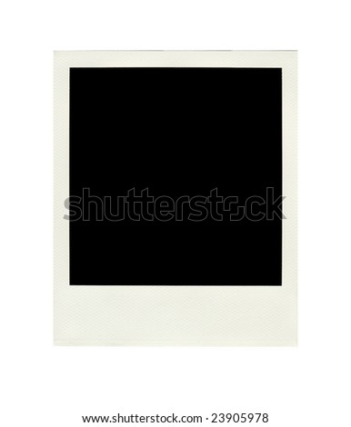 This is a blank  instant photo image isolated on white background