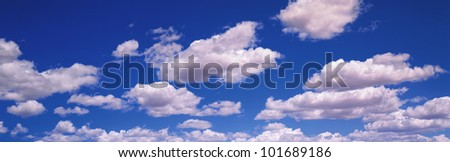 This is a blue sky and clouds.