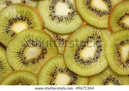 This is a closeup shot of kiwi slices, like nice background.
