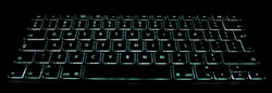 This is a computer keyboard with illuminated backlight.