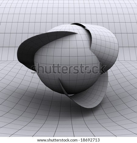 This is a conceptualized extra dimension as theorized by string theory and other physics models.