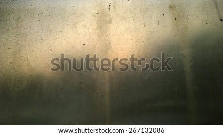 This is a dirty glass and shadow forest